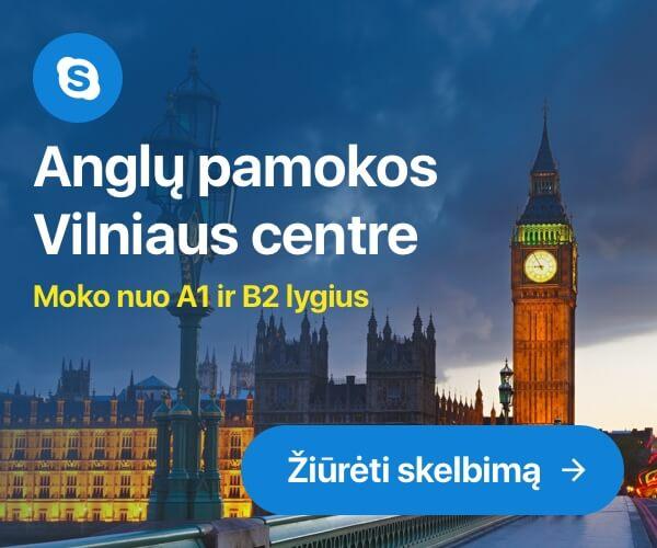 Anglų pamokos Vilniaus centre