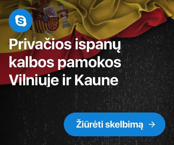 Privačios ispanų kalbos pamokos Vilniuje ir Kaune
